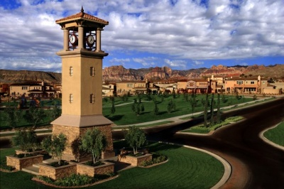 The Vistas Village Clock Tower in Summerlin West
