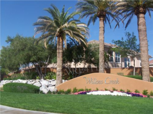 Willow creek in the willows of summerlin
